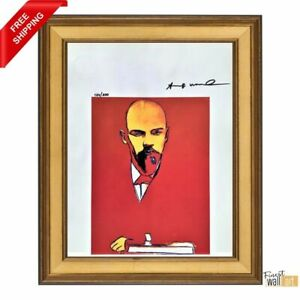 Red Lennin by Andy Warhol Original Hand Signed Print with COA $400.00