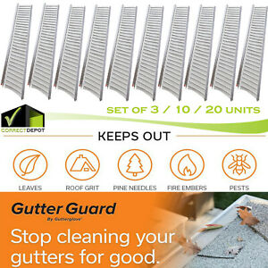 Gutter Guard Cover Debris amp; Leaf Protection 4FT x 5quot; Micro Mesh Stainless Steel $49.99