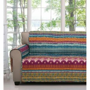 Southwest Quilted Box Cushion Slipcover for Loveseat by Bungalow Rose $49.99