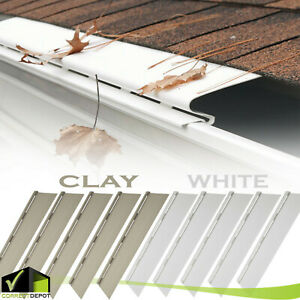 PACK OF SNAP IN 4FT SOLID GUTTER GUARD Cover Screen Debris Leaf Protection Units