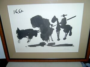 PICASSO BLACK amp; WHITE LITHOGRAPH STONE SIGNED NUMBERED 209 450 DATED 1 $300.00