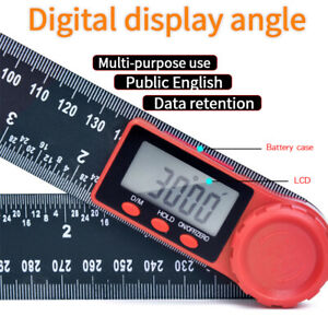 2 in 1 Electronic Digital Angle Protractor Ruler Digital Goniometer 200mm 360 ° $10.99