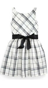 Polo Ralph Lauren Girls Fit amp; Flare Tartan Plaid Party Holiday Dress MSRP $75 $30.00