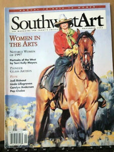 SOUTHWEST ART MAGAZINE Nov 1997 Annual Tribute to Women Pioneer Glass Artists