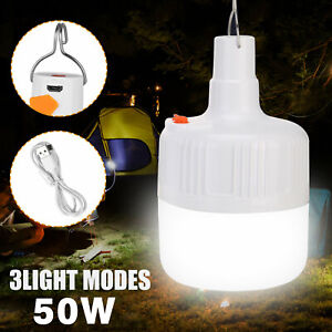 30W LED Camping Light USB Rechargeable Outdoor Tent Lamp Hiking Lantern Lamp