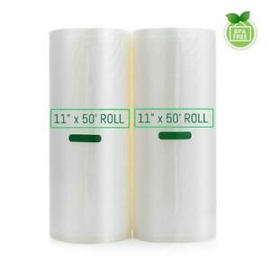 Vacuum Sealer Bags 2 Rolls 11quot;x50#x27; Food Magic Seal Storage Saver Keep Fresh $19.90
