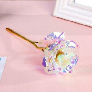 24K Gold Foil Rose Flower LED Luminous Galaxy Mothers Day Thanksgiving Day Gift $10.99