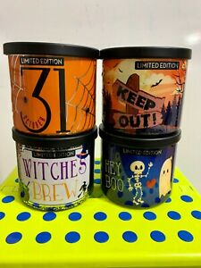 Huntington Home Aldi 4 Candle Lot Halloween 2020 Limited Edition *Free Shipping*