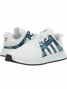NEW Adidas X PLR J Youth Shoes White Blue Camo EE7097 ALL SIZES 3.5Y 6.5Y $31.95