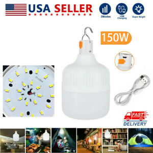 100W LED Camping Light USB Rechargeable Outdoor Yard Tent Lamp Hiking Lantern
