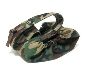 Wagwear Messenger Pouch Carrier Small Camouflage with Orange lining