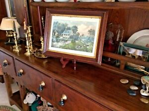 CURRIER AND IVES ORIGINAL LITHOGRAPH amp; FRAME AMERICAN HOMESTEAD SUMMER HAND PAIN $100.00
