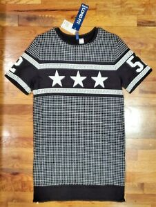 NWT Hamp;M Divided Mens Long Checkered T Shirt with Side Zip Small Long Fit $9.99