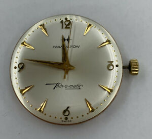 Vintage Hamilton Thin o matic Watch Movement amp; Dial 17 Jewels 663 Running $90.00