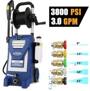 3800PSI 3.00GPM Electric Pressure Washer High Power Cold Water Cleaner Machine $139.89
