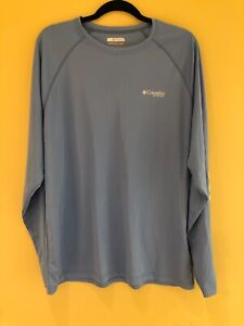 Columbia Mens Blue Long Sleeve Dry fit Shirt PFG $20.00