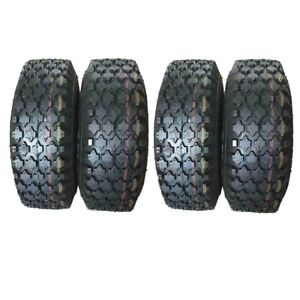 FOUR 4.10 3.50 4 For Garden Lawn Mower Tractor Go Kart Tubeless Tires HD $39.99