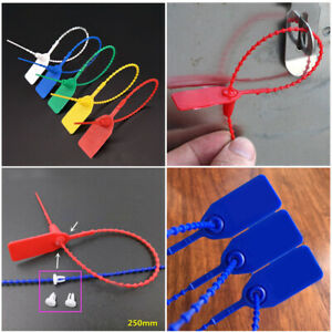 100pcs PP Security Tags Numbered Pull Ties Secure Anti Tamper Seals Useful C $15.40