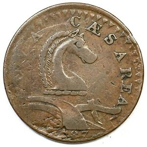 1787 54 k R 3 Serpent Head New Jersey Colonial Copper Coin $450.00