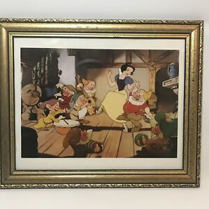 Snow White 1994 Vintage Lithograph Disney Store Exclusive Framed 17x14 Vintage $29.95