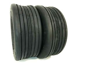 Two 15x6.00 6 Lawn Mowers Rib Tubeless Tires Tractors 4 ply Hay Tedder $44.99