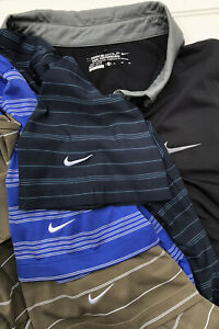 Lot of 4 Nike Short Sleeve Golf Polo Shirts Dry Fit Solid Striped Mens Sz XL $69.99