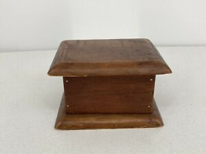Small Wooden Antique Box Signed And Marked June 1 1915 $35.00
