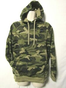 mens under armour cold gear hoodie pullover M nwt jungle camo green $34.95
