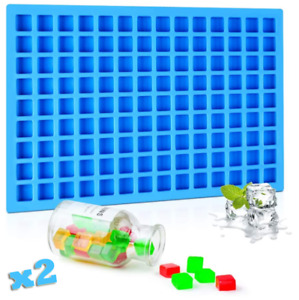 2Pcs 126 Cavities Mini Square Silicone Mold Hard Candy Chocolate Small Ice Molds