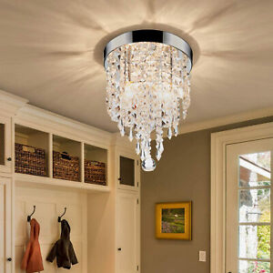 Chandelier Flush Mount Ceiling Light for Bedroom Living Room More Mini Crystal
