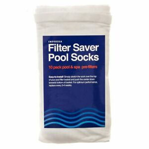 Impresa Products 10 Pack of Pool Skimmer Socks Perfect Savers for Filters $11.99