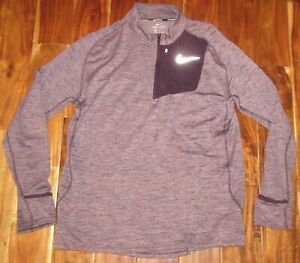 Nike Running Mens Therma Sphere Element ZipNeck Pullover Purple AO2617 670 sz XL $29.99