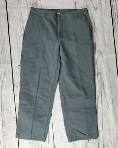 Columbia Pants Mens 34 Gray Flat Front Casual Outdoor Hiking Work Wear Cotton
