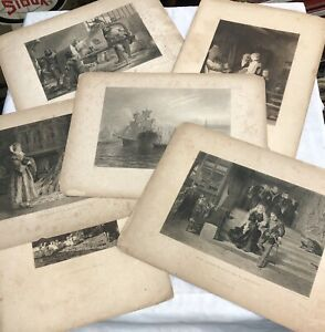 Antique Lithographs D Appleton amp; Co 1890s Lot Of 6 Samson Mary Queen Scots $19.55