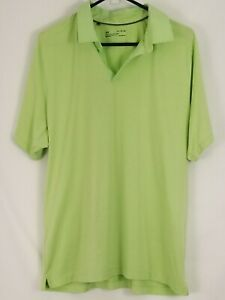 Mens Under Armour XL Polo Short Sleeve Shirt Yellowish Light Green Loose Fit $16.80