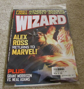 Wizard Magazine 194 In Sealed Polybag Promo Items Avengers Alex Ross Marvel More $9.99