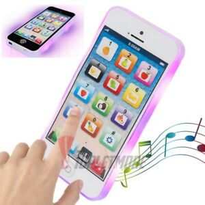Kids Music Toy Cell Phone LED Flash Educational Learning Touch Screen Child