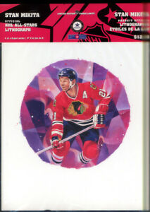 3 Limited Edition NHL all Star Lithograph pf Stan Mikita Chicago Black Hawks C $18.00