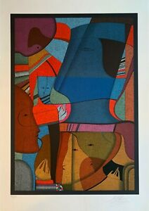 MIHAIL CHEMIAKIN quot;Blue Metaphysical Compositionquot; Original Lithograph Signed COA $1900.00
