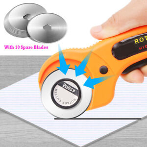 Fabric Rotary Cutter Sewing Quilters Leather Cutting 45mm Tool 10Pcs Blades $10.82