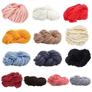 Soft Cotton Chunky Super Bulky Shawls Hand DIY Knitting Yarn Thick Soft Roving $10.85