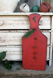 Little Antique Wood Whale Tail Cutting Board Red Milk Paint $24.00