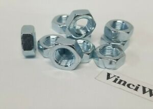 1 2 20 Left Hand Thread Hex Jam Nuts Steel Zinc Plated 10 Pieces. $9.50