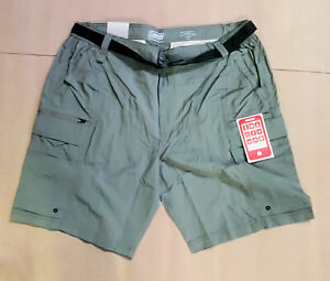 COLEMAN Mens Shorts Ironstone Grey Hiking Performance Belted Choose Size $20.99