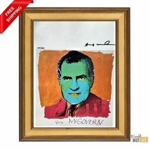 Vote McGovern by Andy Warhol Original Hand Signed Print with COA $300.00