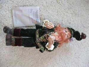 VINTAGE Artist Lynn West Amaranth RARE Franze Christmas Elf 9 300 1995 $125.00