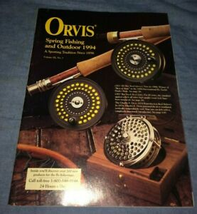 1994 Orvis Fly Fishing Gear Outdoor Sporting Goods Mail Order Catalog VTG Paper