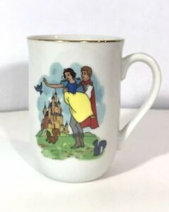Disney Collections Classic Mug Snow White Made By Disney Artists Gold Rim $13.98