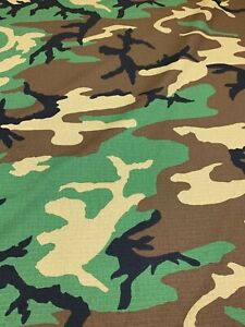 Woodlands Military Camo Nyco Vintage Ripstop 66quot;W Camouflage Fabric Apparel