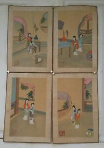 China small Antique paintings of ladies 4ps 画 $90.00